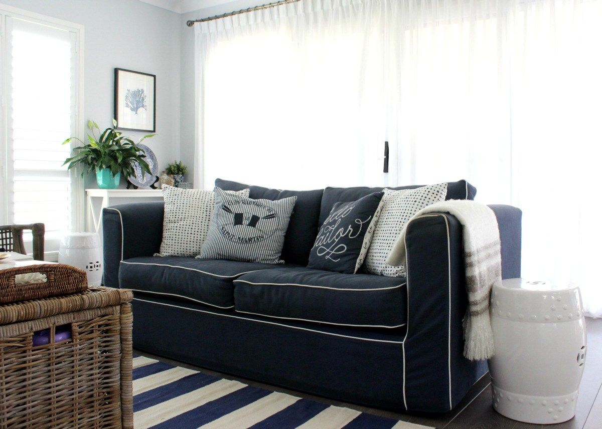 A Nautical Style Living Room | Nautical style, Living rooms and ...