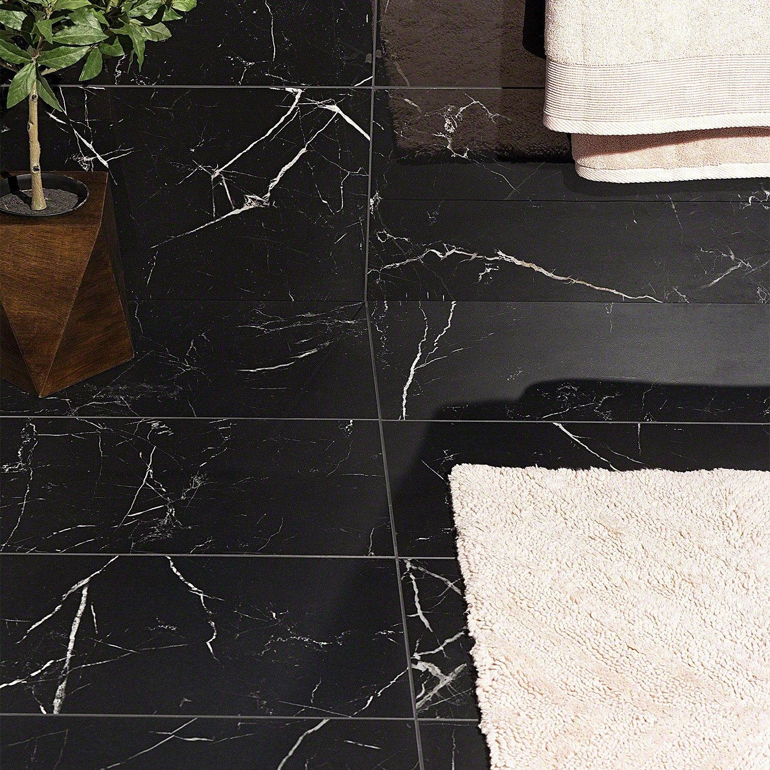 Marble Tech Port Laurent 12x24 Matte Nero Marquina Look Porcelain Tile Marble Porcelain Tile Black Marble Bathroom Polished Porcelain Tiles