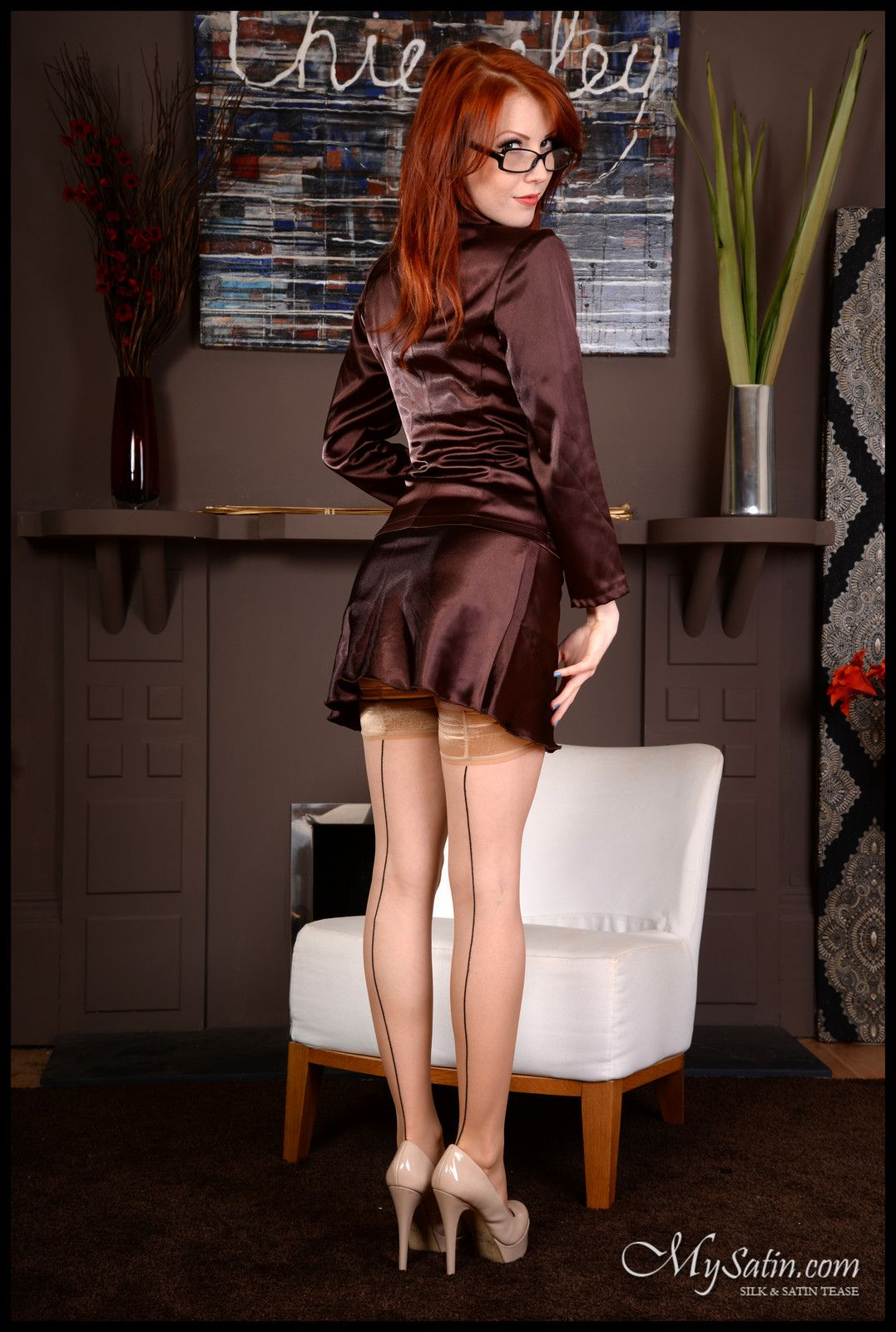 The seamed stockings make this outfit!