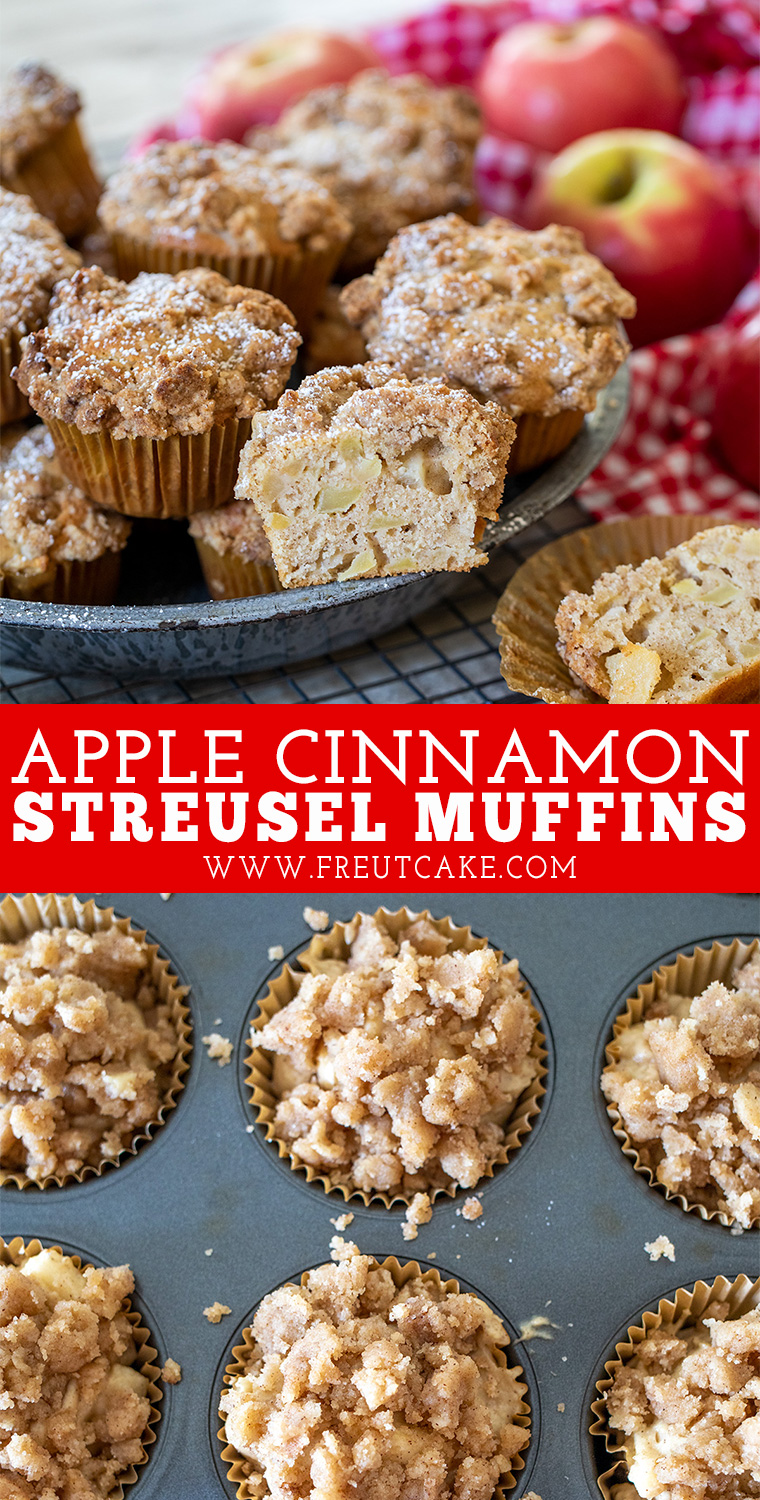 Apple Cinnamon Streusel Muffins Are A Sweet Cinnamon Sour Cream Muffin Studded With F In 2020 Apple Cinnamon Streusel Muffins Cinnamon Streusel Muffins Muffin Streusel