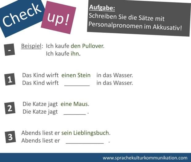 Ubung Personalpronomen Im Akkusativ Exercises Personal Pronouns Accusative Personalpronomen Deutsch Lernen Lernen