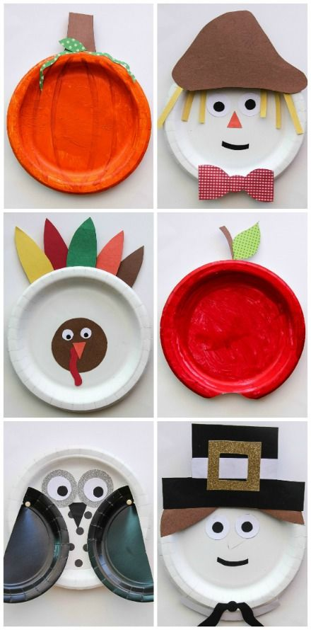 Fall Paper Plate Crafts for Kids & Top 10 DIY Thanksgiving Crafts for Kids | Paper plate crafts Craft ...
