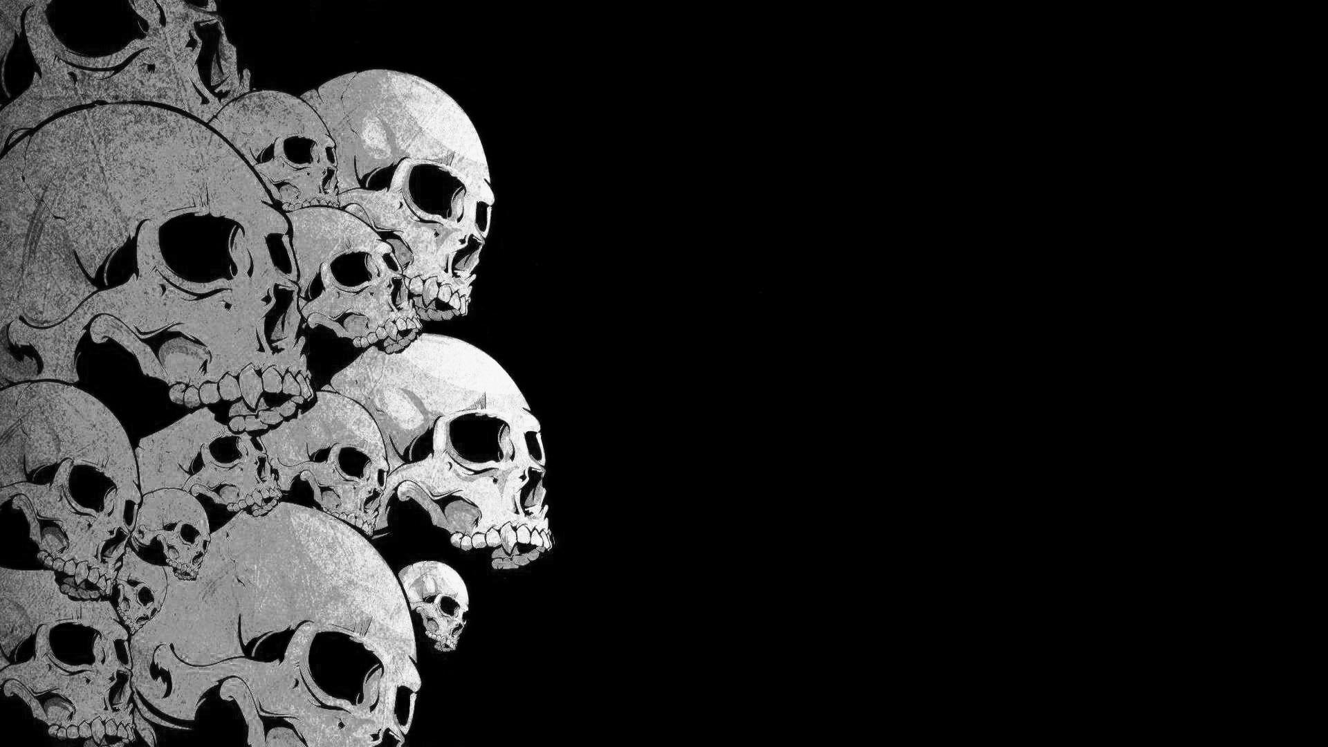 skull illustration skull 1080P wallpaper hdwallpaper