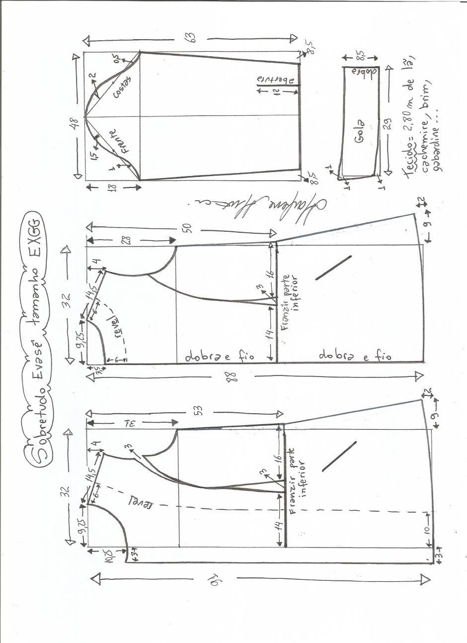 Patrón de abrigo largo entallado | Dikiş eğitimleri | Pinterest ...
