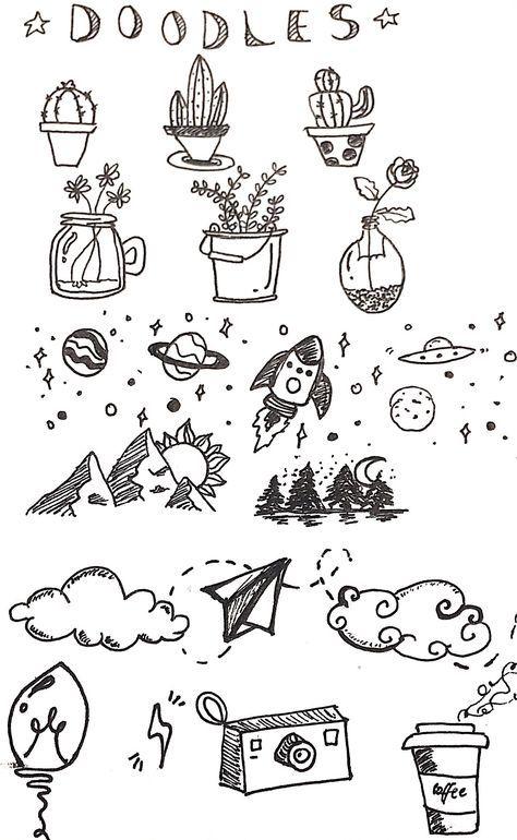 Drawing Ideas Tumblr Notebooks Creative 35 Ideas Doodle Art Journals Simple Doodles Bullet Journal Doodles