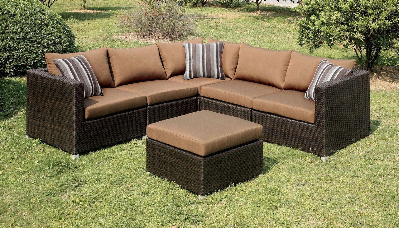 Outdoor Patio Sectional Sofa Abino Collection Patio Sectional