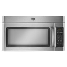 Maytag 1 6 Cu Ft Over The Range Mmv1164ws Microwave Stainless Steel 249 Lowes 29 875 W X Stainless Steel Microwave Microwave Range Hood Range Microwave