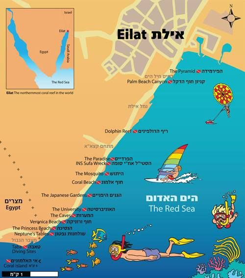 Tourism map of Eilat Israel Pinterest Eilat Tourism and Israel