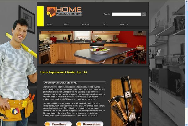 home improvement website sample on behance - info on affording