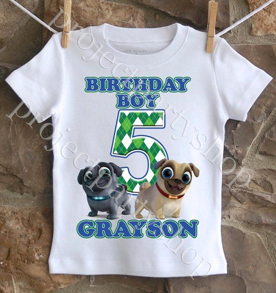 Puppy Dog Pals Birthday Shirt Boy