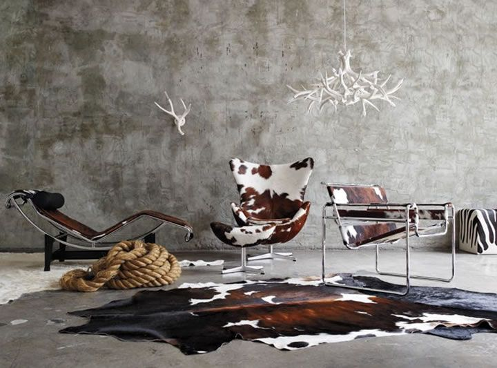 Marvelous I Heart Cowhide Chairs