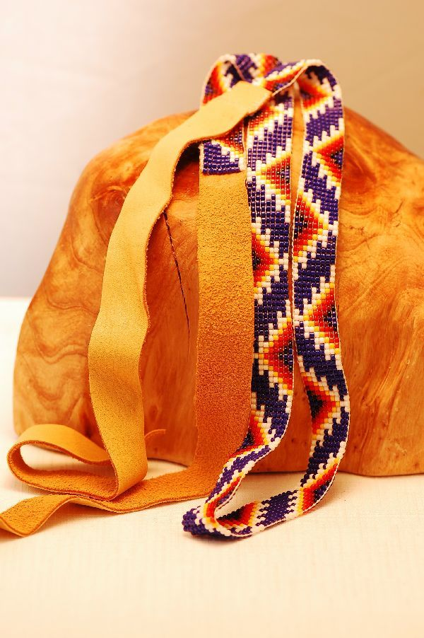 Apache – Traditional Multi-Colored Seed Bead Hat Band