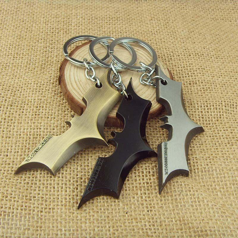 Nieuwe Collectie Mode De Vleermuis Man Film Thema Metal Batman Sleutelhanger Legering Sleutelhanger Maat 8.5*2.8 cm 1 st