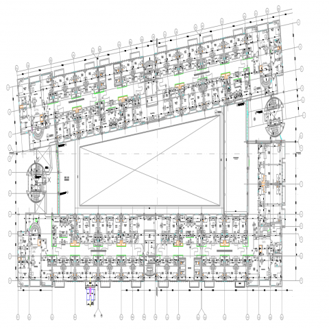 2d cad drawing of hospital autocad software detailed with