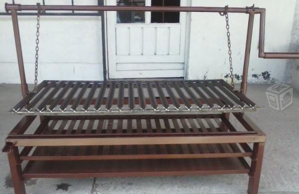 Asador para jardin cocinas terrazas pinterest for Diseno de muebles de jardin al aire libre