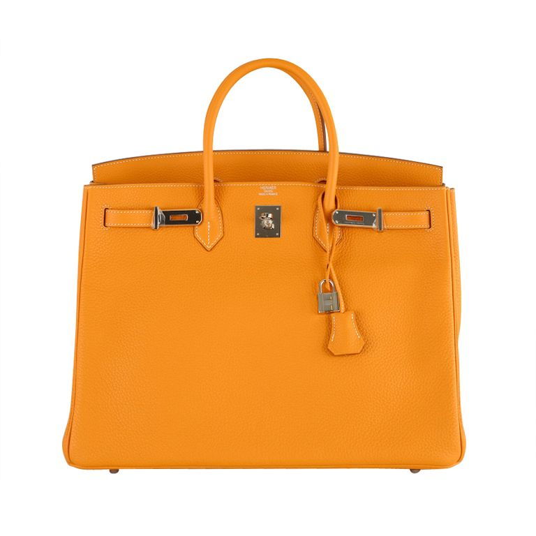 New Color Hermes Birkin Bag 40cm Moutarde Palladium Hardware From A Collection Of Rare Vintage Handbag Hermes Bag Birkin Hermes Birkin Bag 40cm Hermes Birkin