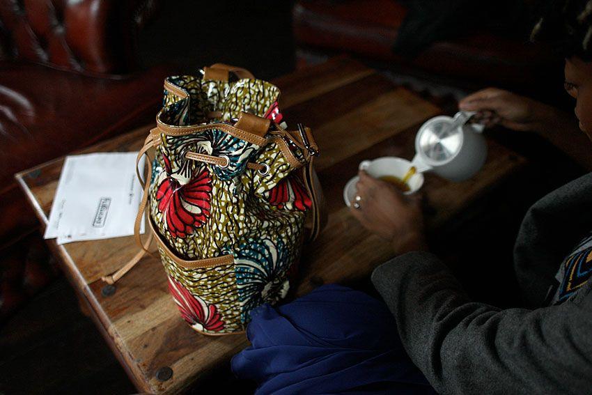 UGO African Oilcloth Bag by Ugonna Hosten.