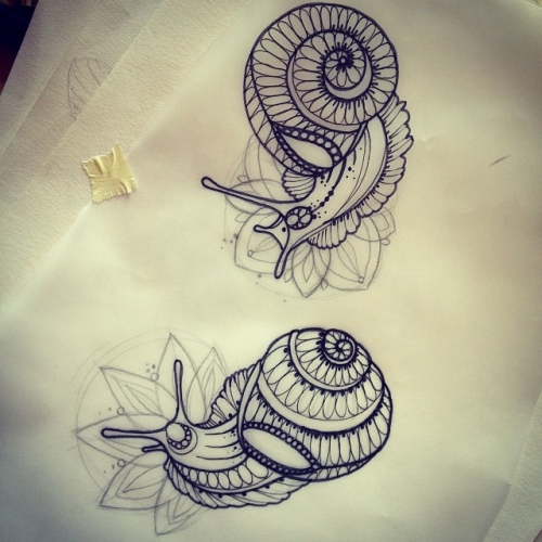 Passionate Anxiety Tattoo For Women: Tattoos Of Snails