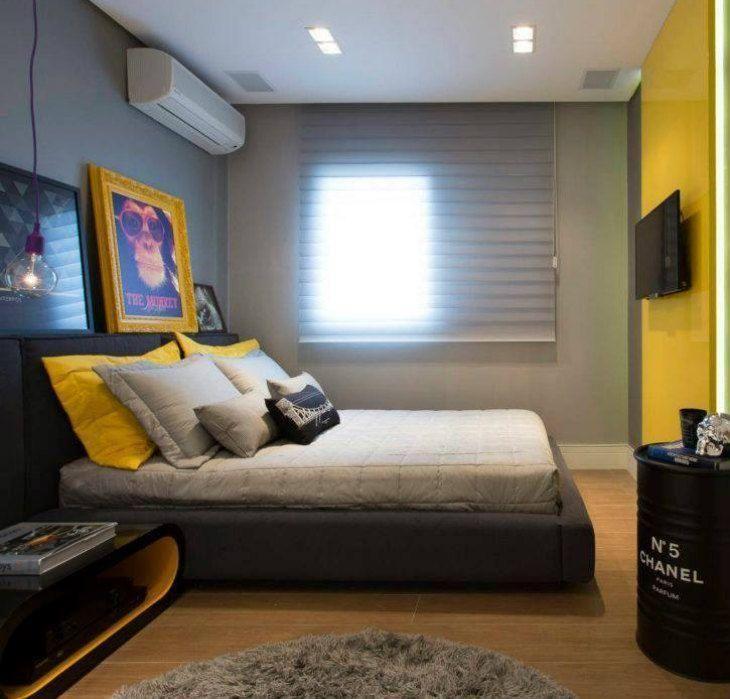 Parede amarela veja dicas para decorar espa os usando for Bedroom ideas young man