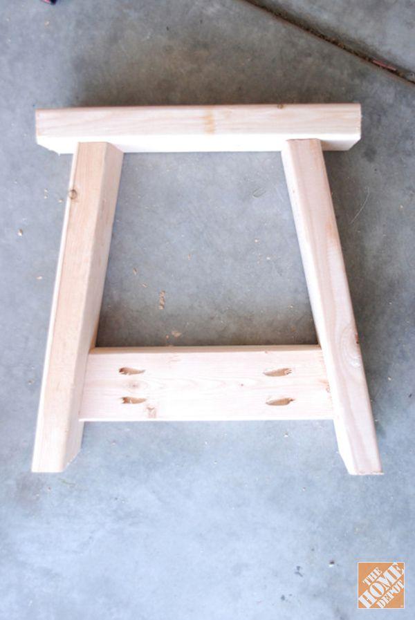 Diy Project Farmhouse Bench The Home Depot Farmhouse Bench