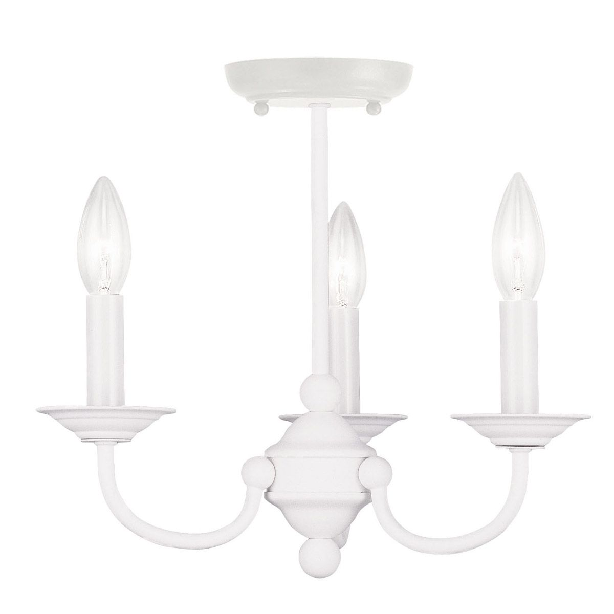 Livex 4153 03 home basics 3 light 14 inch white mini chandelier livex 4153 03 home basics 3 light 14 inch white mini chandelier ceiling light arubaitofo Images