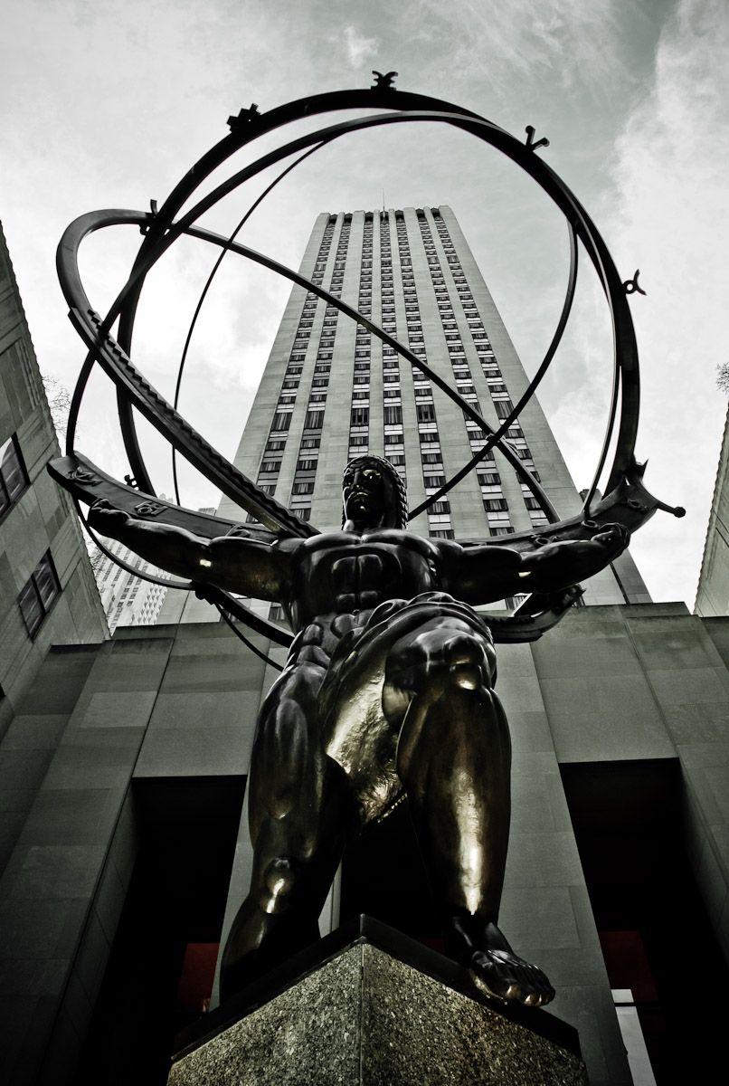 Atlas Statue Rockefeller Center York Apollonian