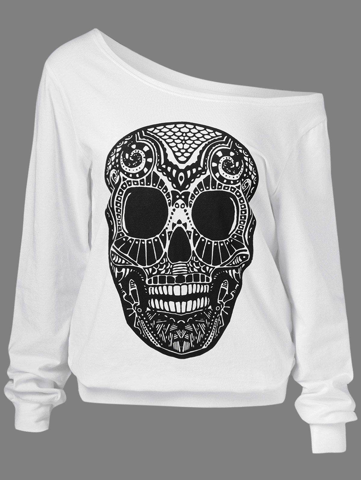 Drop Shoulder Skull sweatshirt