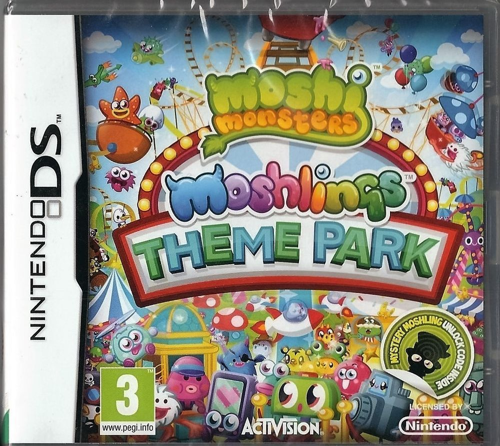 Nintendo Ds Moshi Monsters Theme Park (plays 3ds in 2D