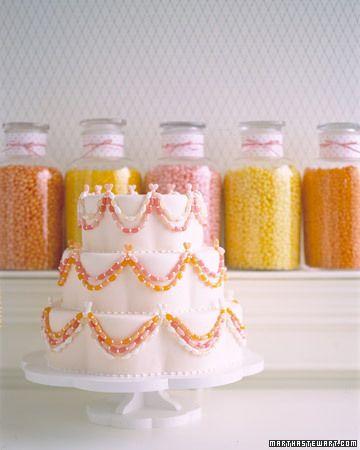 Jelly Bean Wedding Cake