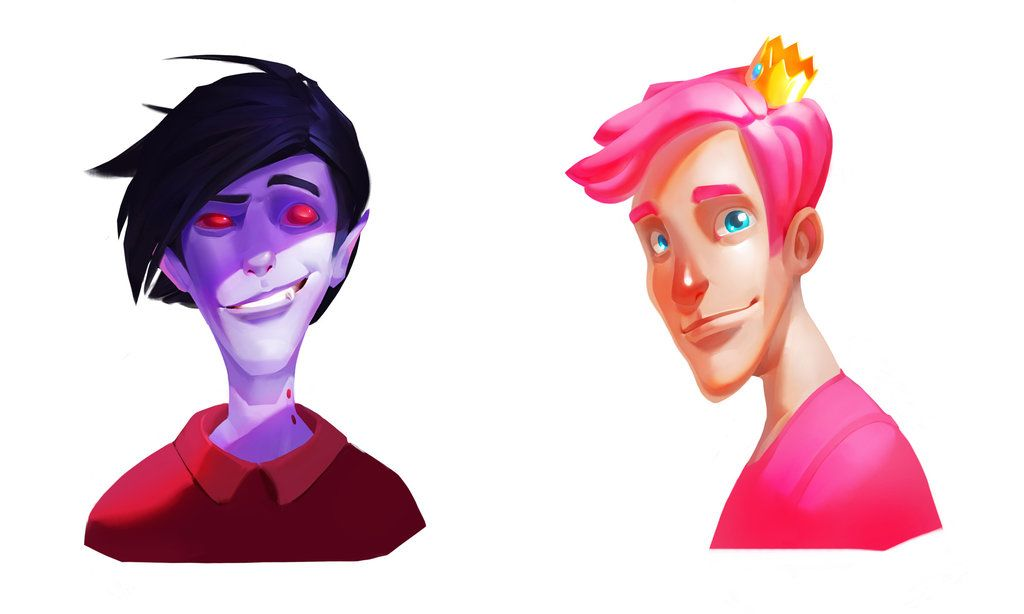 Adventure time: Marshall Lee and Prince Gumball by Firrka