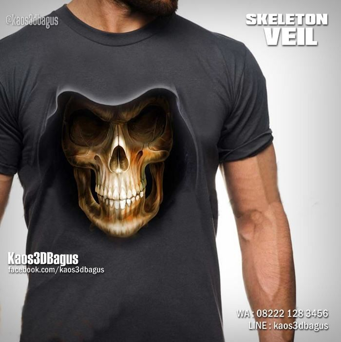 Kaos Tengkorak Kaos Skeleton Veil Kaos3d Kaos Gambar Tengkorak Kaos Gothic Kaos Metal Kaos Clubbing Keren Kao Mens Tops Mens Tshirts Mens Graphic Tshirt