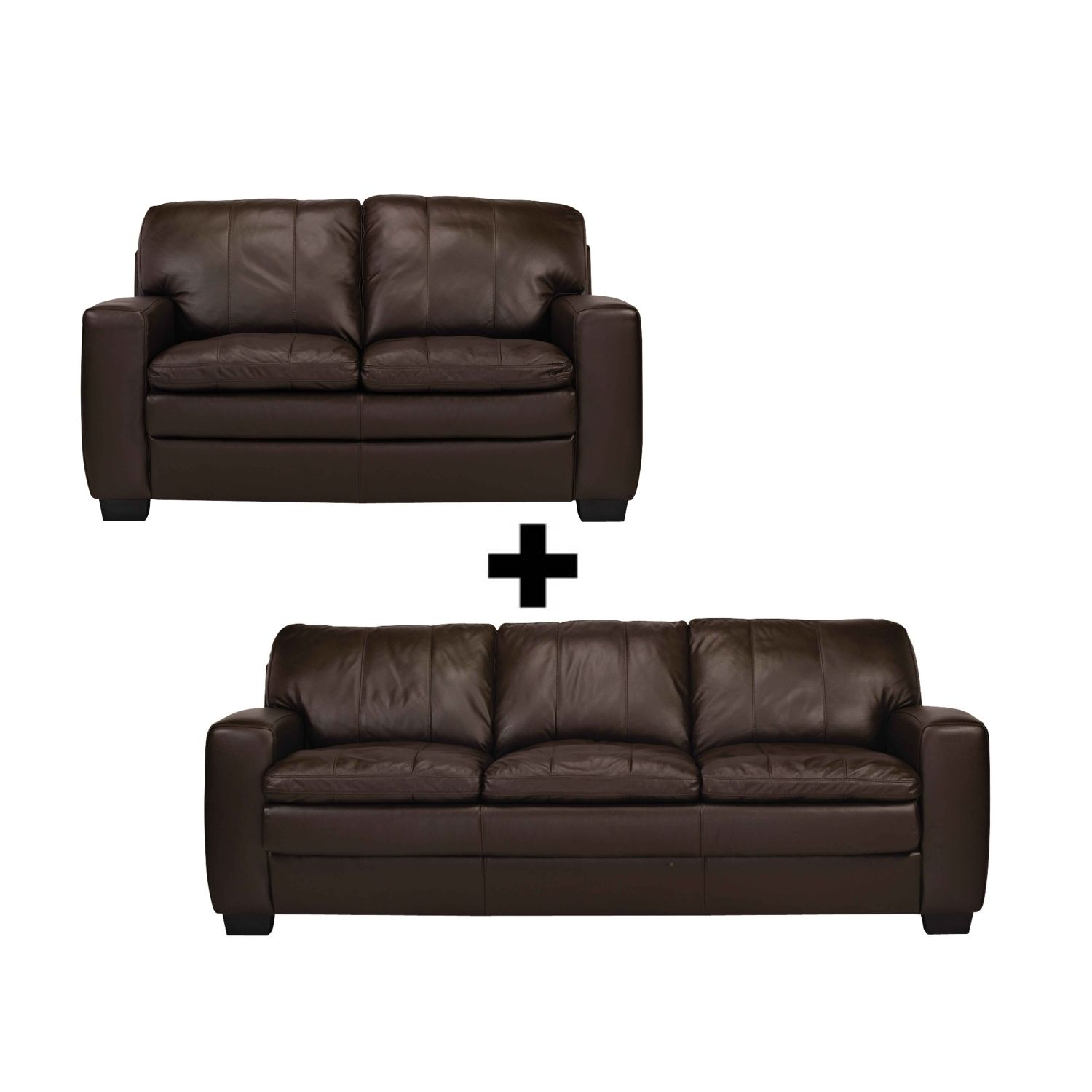 Camden Leather Sofa Package from Domayne Online | Domayne ...