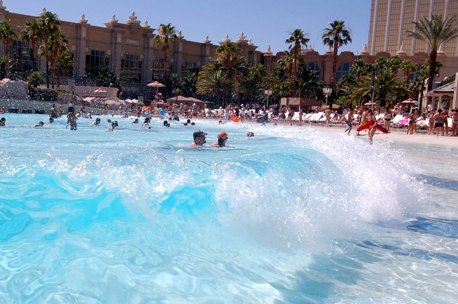 Mandalay Bay Has A Wave Pool Lazy River And Other Pools For You To Lounge In Check Out Celebs Spotted At Mandalay Ba Cancun Trip Las Vegas Trip Las Vegas Usa