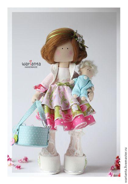 Коллекционные куклы ручной работы. Ярмарка Мастеров - ручная работа. Купить Кукла текстильная. Большеногая девочка.. Handmade. Куклы, Снежка