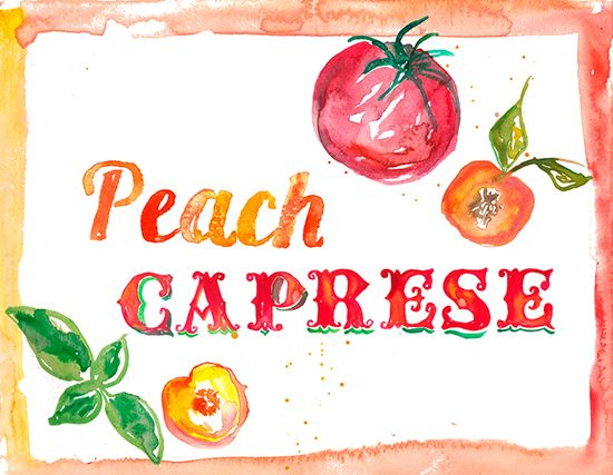 Let's Party: Peach Caprese Salad