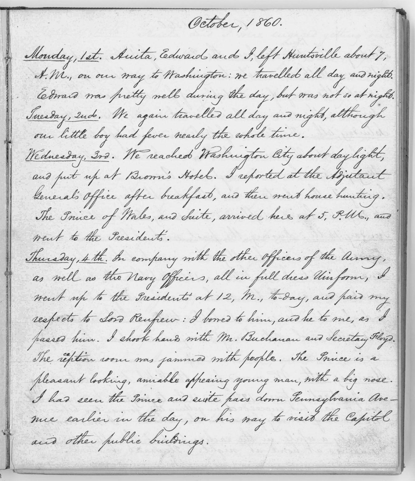 Civil War Diary Entries