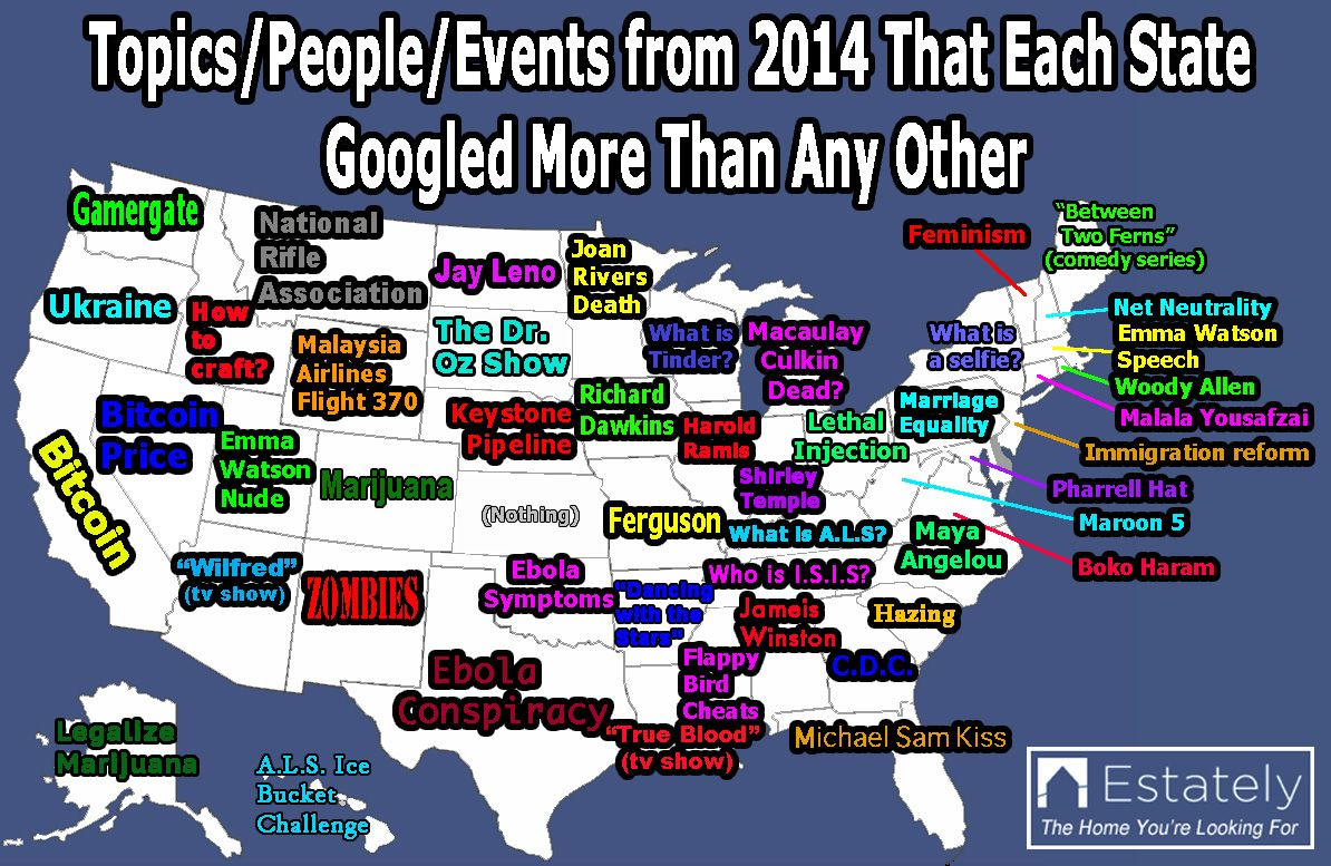 Here Is What We Googled In 2014 State By State Funny Maps States New Mexico