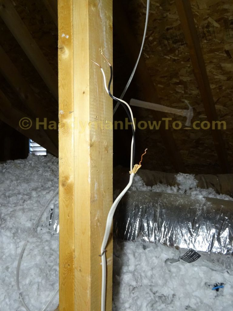 Brilliant How To Wire An Attic Electrical Outlet And Light Junction Box Wiring Database Gramgelartorg