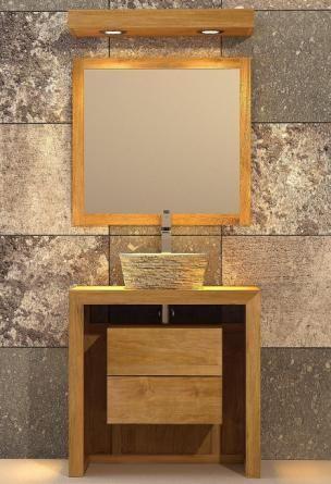 Meuble de salle de bain - Hoedic L80 en teck SDB Pinterest