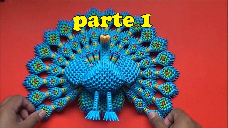 Origami 3d Pavoreal Parte 1 Sombreritos De Papel Pinterest Swantutorial Blue39s Chinese Modular Swan Diagram
