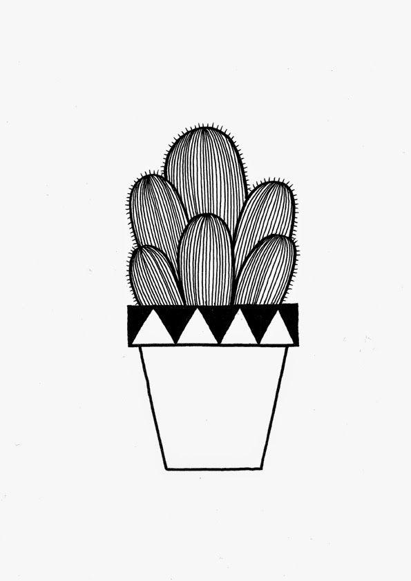 Nana Sjoblom ~   illu&draw   Pinterest   Kaktus, Linoldruck und ...