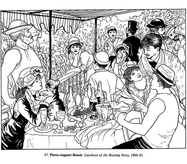 Masterpiece Coloring Page Free Printable Peirre Aguste Renoir