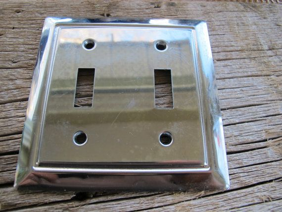 Bright And Shiny Chromed Double Gang Light Switch Covers Perfect
