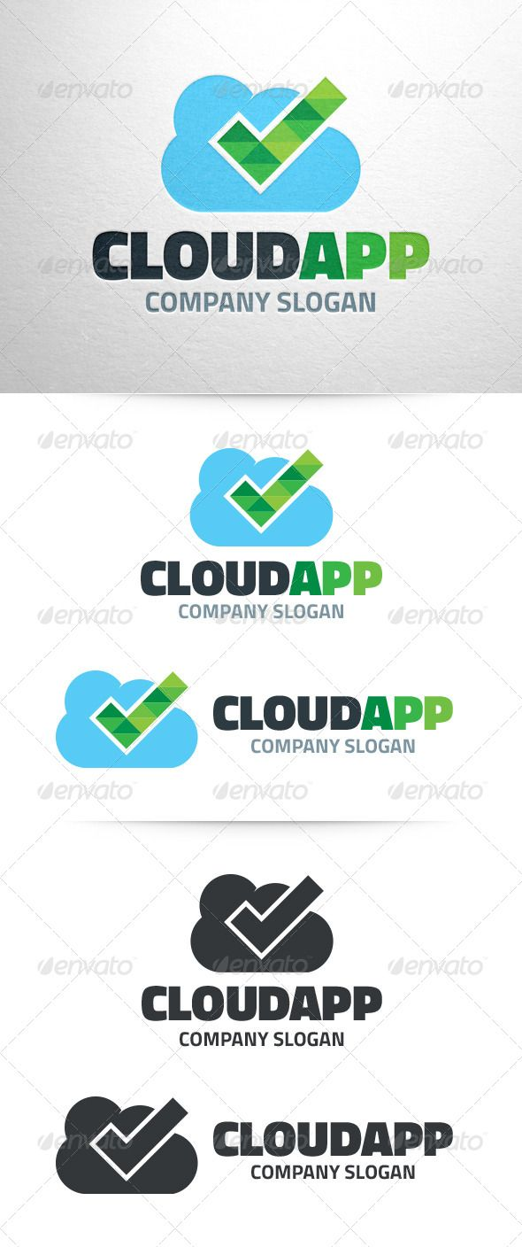 cloud app logo template fonts logos icons pinterest app logo