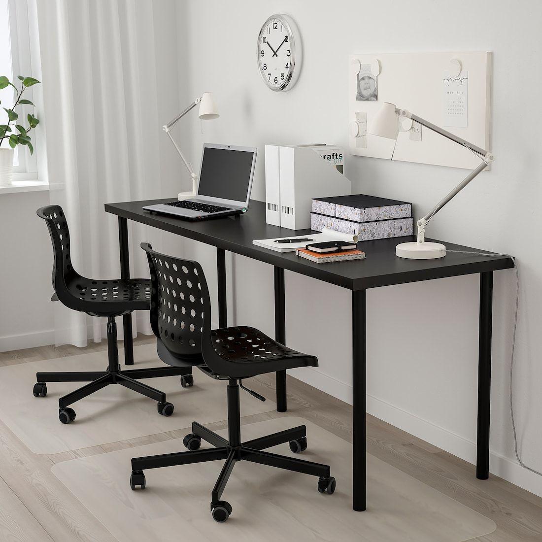 Linnmon Adils Table Black Brown Black 78 3 4x23 5 8 Ikea Home Office Design Home Office Setup Home Office Decor