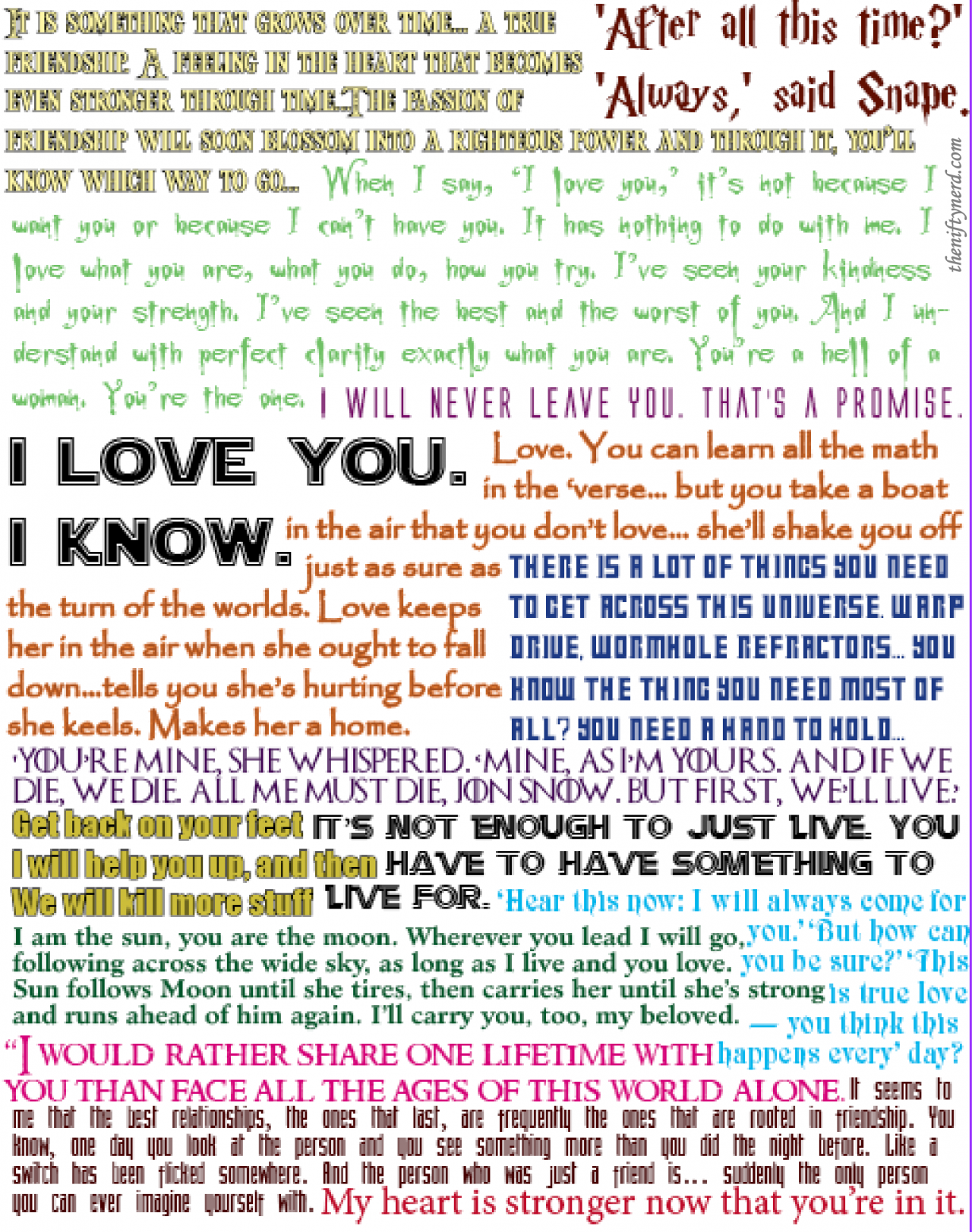 Geeky Love Quote Collage Tutorial