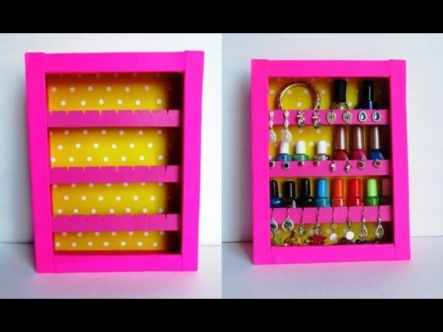 DIY Jewelry Holder Jewellery holder Cardboard boxes and Box