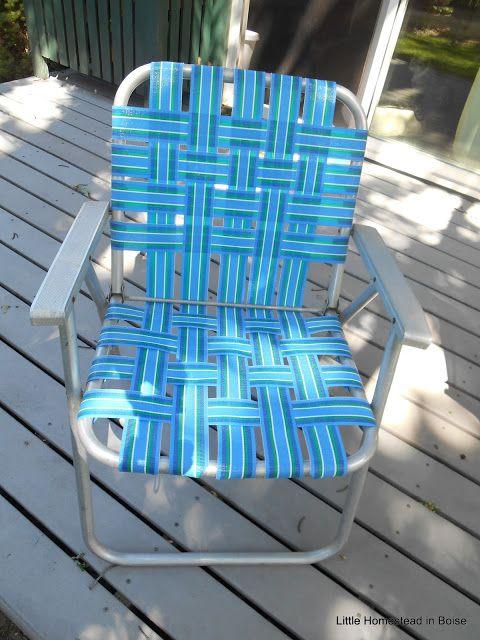 Rewebbing Renewing A Vintage Lawn Chair  Little Homestead In Boise.  Furniture ...