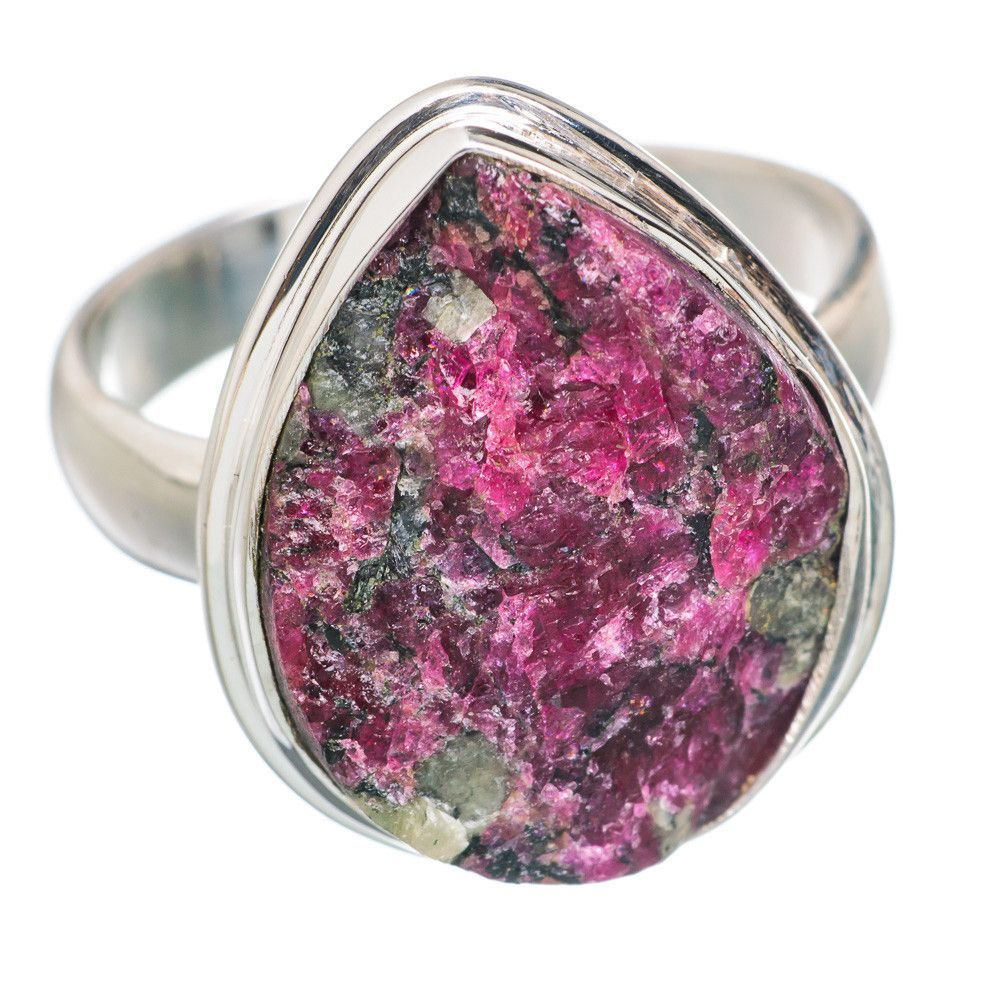 Rough Russian Eudialyte 925 Sterling Silver Ring Size 9 RING758597 ...
