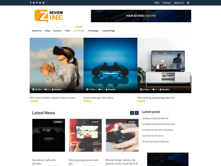 ReviewZine — Free WordPress Themes   Wordpress   Pinterest ...